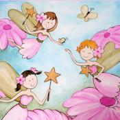 Three Fairies Wall Art