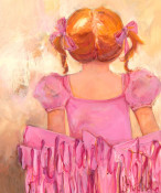 Angelic Ballerina - Red Hair Wall Art