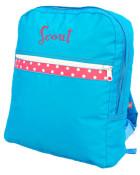 Aqua Polka DotKids Backpack