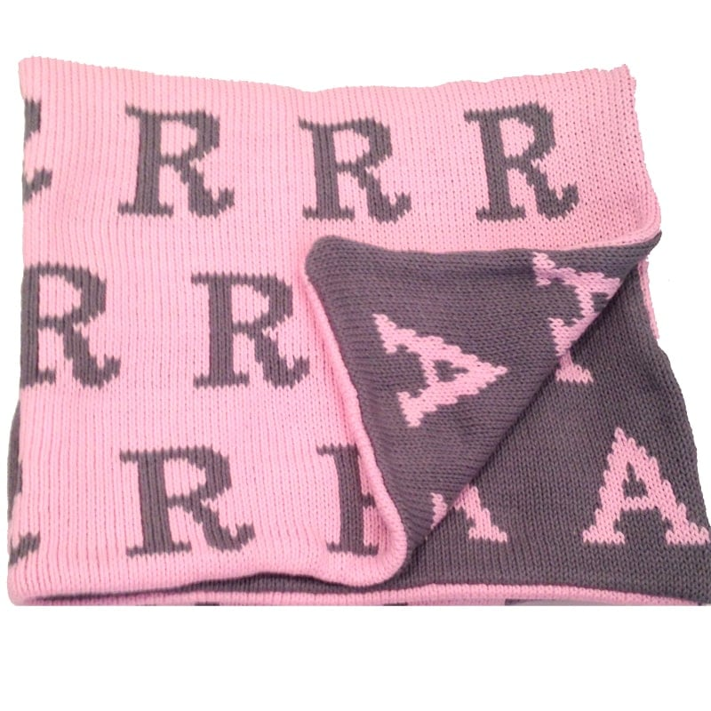 Hand Knit Personalized Baby Blanket - You Name It Baby!