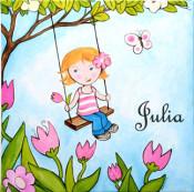 Julia on Swing Wall Art