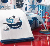 personalized towel - pirate