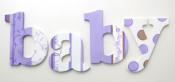 Purple Toile Letters