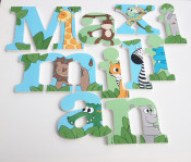 Bright Jungle Wooden Letters
