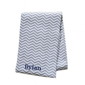 Chevron Grey Swaddle Blanket