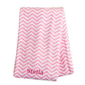 Pink Chevron Swaddle Blanket