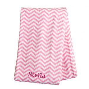 Pink Chevron Swaddle Blanket