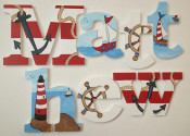 nautical wooden letters