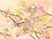 Butter Cream Cherry Blossom Birdies