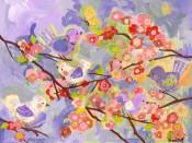 Cherry Blossom Birdies Lilac