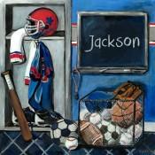 Locker Room Personalized Wall Art