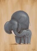 Safari Kisses Elephant Wall Art