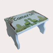 Personalized kids stool - Turtle