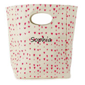 Organic Canvas Lunch Box- Floating Hearts