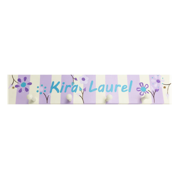 Personalized Pegboard – Floral Stripes