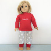 Personalized Pajamas for Doll