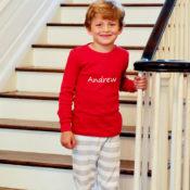 personalized xmas pajamas for boys