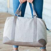 Herringbone Weekender Bag
