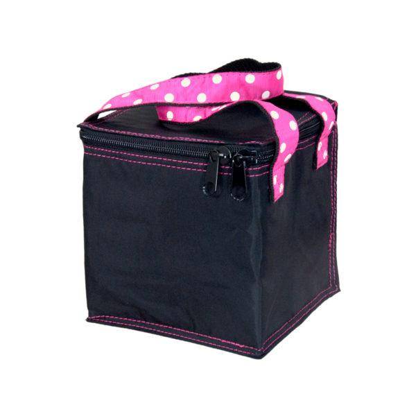 Personalized Kids Bag – Snack Square – Black Polka