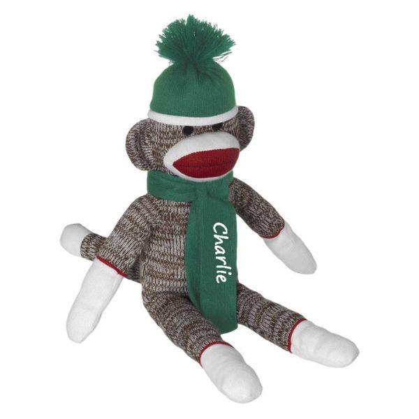 Personalized Sock Monkey – Green
