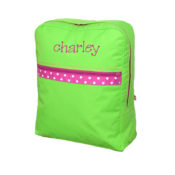 Personalized Kids Bag - Lime Polka Kids Backpack