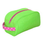 Personalized Kids Bag - Lime Polka Traveller