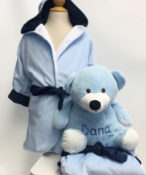 Personalized Kids Robe Blue