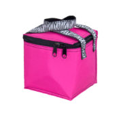 Personalized Kids Bag - Snack Square - Pink Zebra