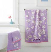 Kassa Kids Personalized Bath Towel - Butterfly