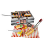 Wooden Grill and Serve BBQ Set