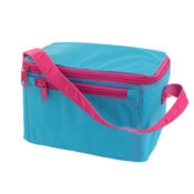 Aqua Hot Pink Personalized Lunch Box