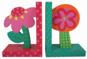 Bright Flowers bookends