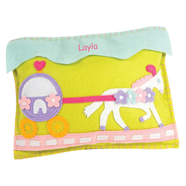 Personalized Tooth Fairy Pillow – Pony & Carriage
