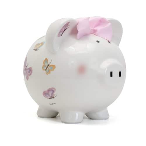 personalized piggy bank – petit papillion