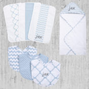Personalized Baby Gift Set - Blue Sky 10 Piece Set