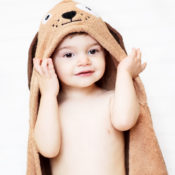 Personalized Hooded Towel for Kids - Dog