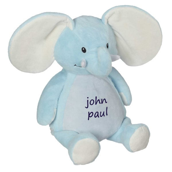 Personalized Stuffed Animal – Blue Elephant