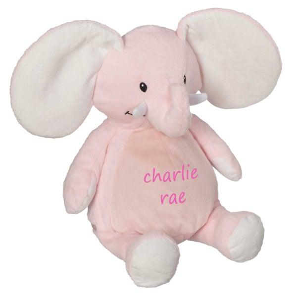 Personalized Stuffed Animal – Pink Elephant