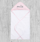 Personalized Baby Towel - Pink Sky Che