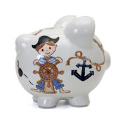Personalized Piggy Bank - Pirate