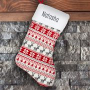 Personalized Stocking - Knit Fair Isle