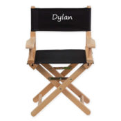 Personalized Black Kids Director Chair