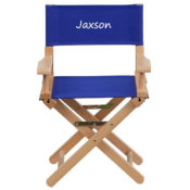 Personalized Blue Kids Director Chair