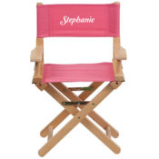 Personalized Pink Kids Director Chair