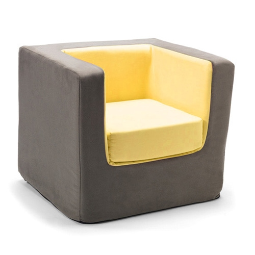 Personalized Yellow Cubino Chair by Monte Design