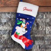 Personalized Christmas Stocking - Polar Bear