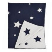 Multi Star Baby Blanket - Navy