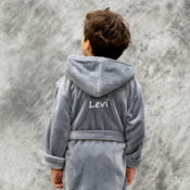 Personalized Kids Robes -Grey Fleece