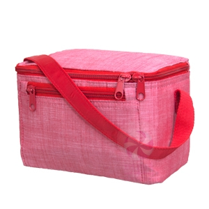 personalized lunch box – red chambray