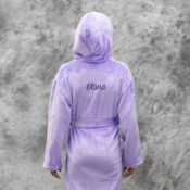 Personalized Kids Robes - Lavender Fleece